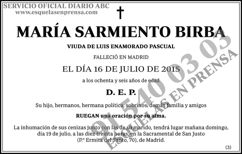 María Sarmiento Birba